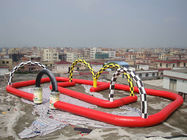 Commercial Giant Inflatables Racing Track For Leisure Activities সরবরাহকারী