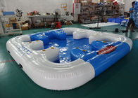 6 Person Floating Island , Inflatable Island Rafts For River and Ocean সরবরাহকারী