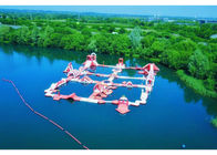 White And Red Inflatable Floating Water Obstacle / Outdoor Water Sports Park সরবরাহকারী