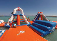 Durable Airtight Inflatable Floating Water Park , Inflatable Party Island সরবরাহকারী