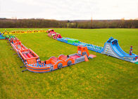 Race Wipeout Course Inflatable Tunnel , Rental 5k Inflatable Obstacle Course সরবরাহকারী