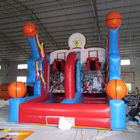 Outdoor Blue and Red PVC Tarpaulin Cannonball Shooting Inflatable Sports and Air Blaster Ball Games সরবরাহকারী