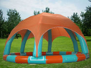 Family Size Kids Inflatable Pools With Tent Cover সরবরাহকারী