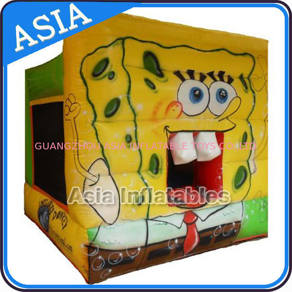 Lovely Inflatable Sponge Bob Cartoon Bouncy Castle For Party Hire Games সরবরাহকারী