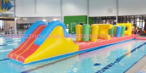 Indoor Swimming Pool Games, Inflatable Obstacle Course For Sale সরবরাহকারী
