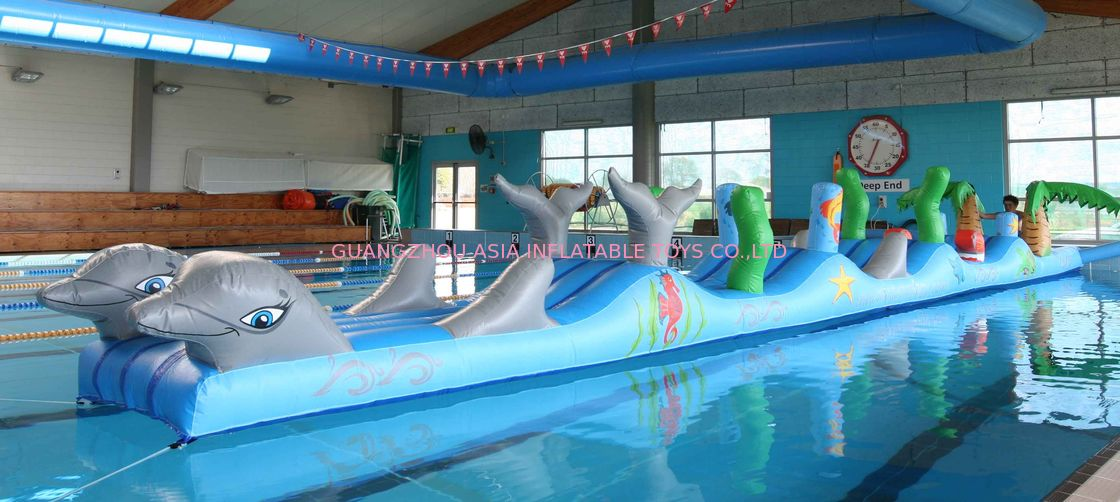 Inflatable Sports For Swimming Pool, Aqua Obstacle Course For Sale সরবরাহকারী