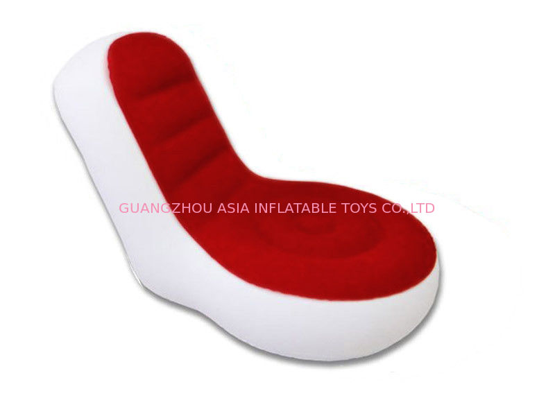 Light Weight 0.6mm Pvc Tarpaulin  Inflatable Chair Sofa With Red And White Color সরবরাহকারী