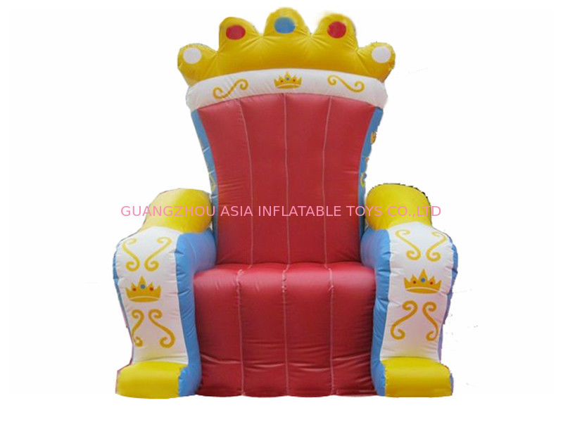 Hot Selling Replicas Inflatable Advertising King Sofa , Inflatable King Chair সরবরাহকারী