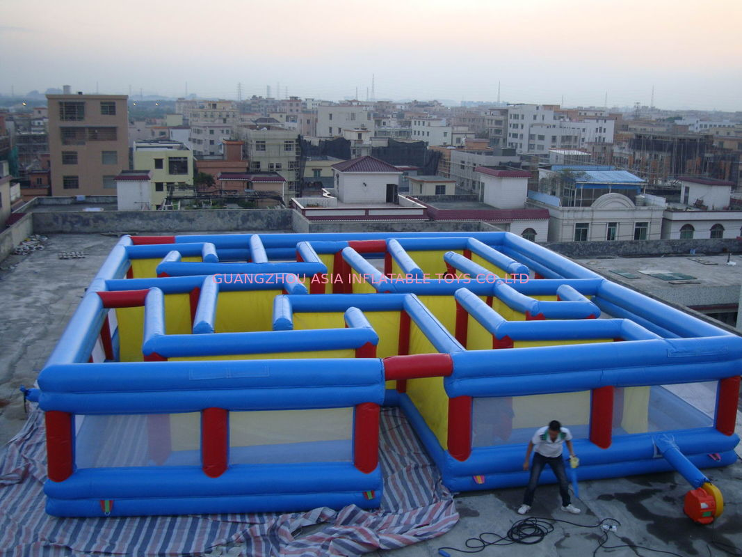 Square Interactive Maze Games, Inflatable Labyrinth Games For Sale সরবরাহকারী