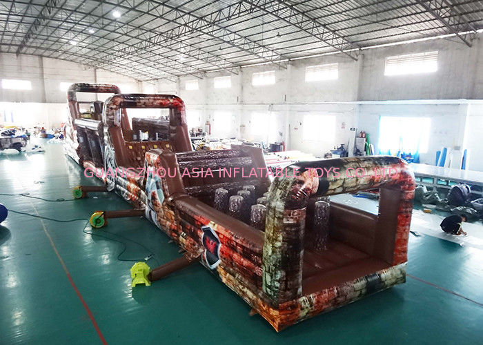 Inflatable Military Obstacle Course For Park Amusement Park Games সরবরাহকারী