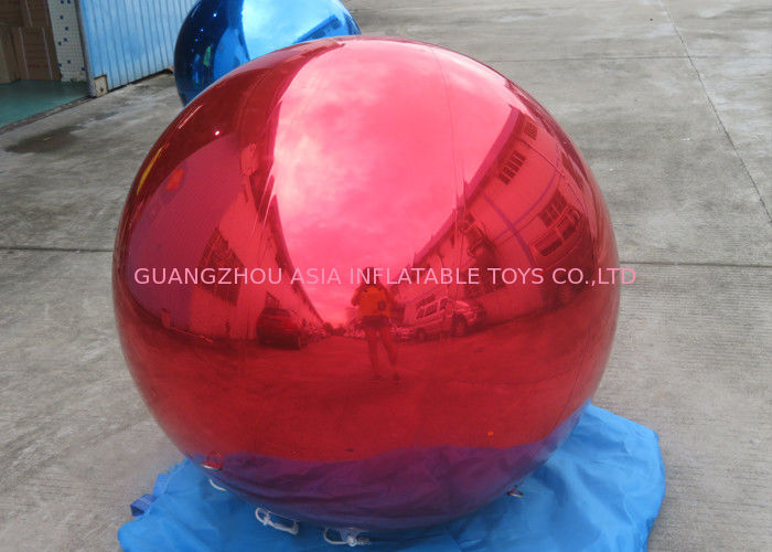 Helium Advertising Inflatables Red Mirror Balloon For Building Decoration সরবরাহকারী