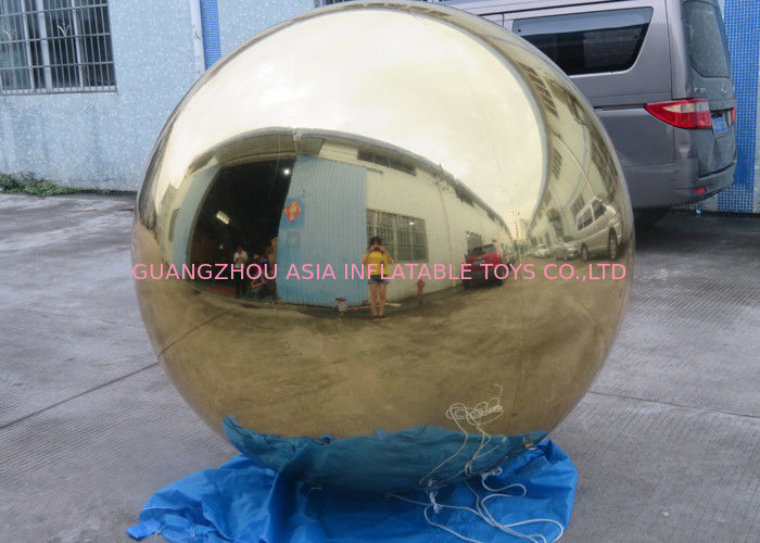 Inflatable Gold Mirror Balloon With Reflection Effect For Decoration On The Floor সরবরাহকারী