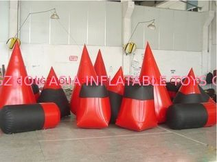 Red 0.6mm Pvc Tarpaulin Inflatable Paintball Bunker For Paintball Sports সরবরাহকারী