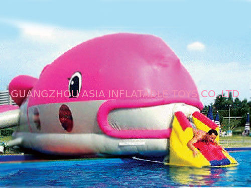 Water Floating Games, Inflatable Obstacle Course In Pink Whale Model সরবরাহকারী