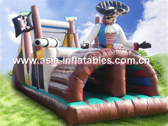 Inflatable Obstacle Challenges Course In Pirate Ship Design সরবরাহকারী