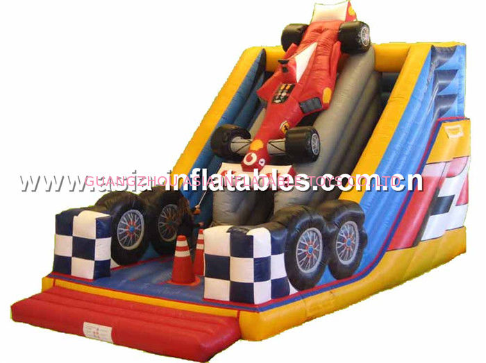 Customized Inflatable F1 Car Slide For Children Party Entertainment সরবরাহকারী