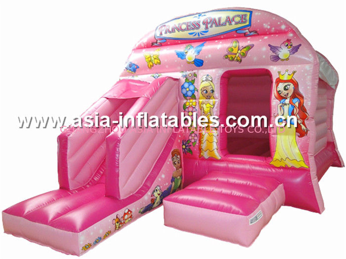New inflatable princess pink bouncy castle/Commercial Inflatable combo সরবরাহকারী