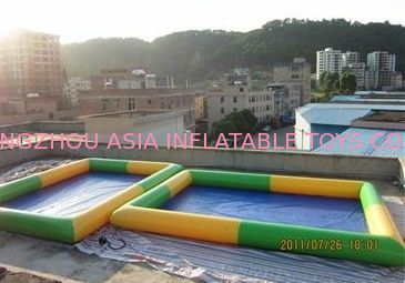 Colored Rectangular Kids Inflatable Pool for Water Park Games Using সরবরাহকারী