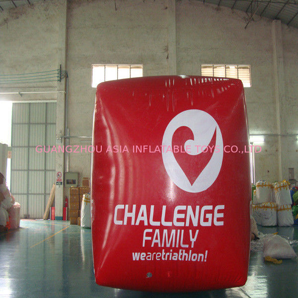 Red Cube Inflatable Swim Buoy For Advertising , Swim Buoy Inflatable Water Games সরবরাহকারী