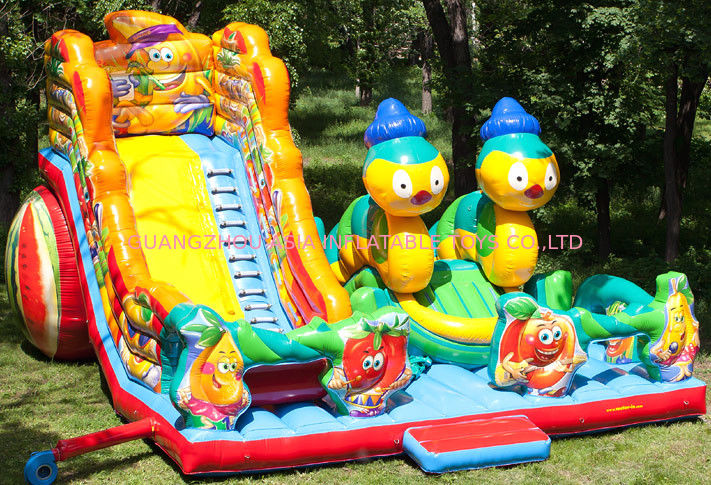 Lovely Inflatable Bug Funcity With Slide, Inflatable Funland For Kids সরবরাহকারী