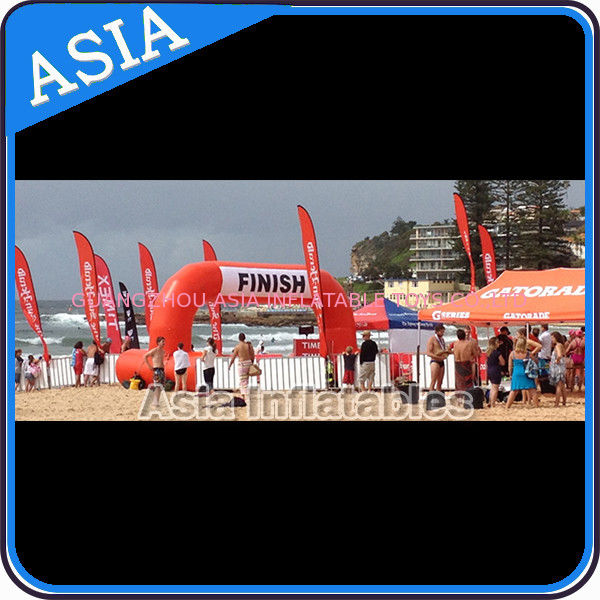 Orange Color Beach Competition Finish Line Arch Inflatable সরবরাহকারী