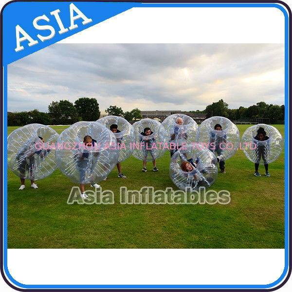 Fashionable Sports Entertainment Football Inflatable Body Zorb Ball For Hire সরবরাহকারী