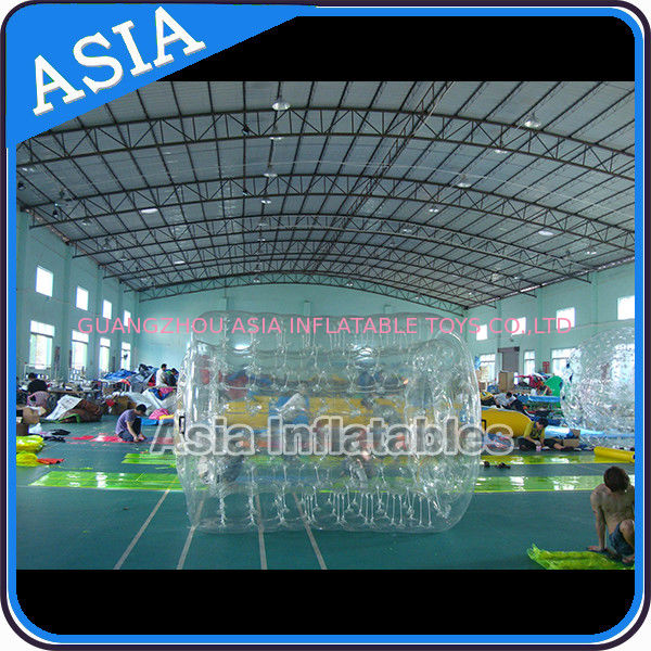 Swimming Pool / Park Transparent Inflatable Water Roller Ball সরবরাহকারী