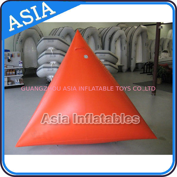 Race Mark Orange Inflatable Tetrahedron Buoy সরবরাহকারী