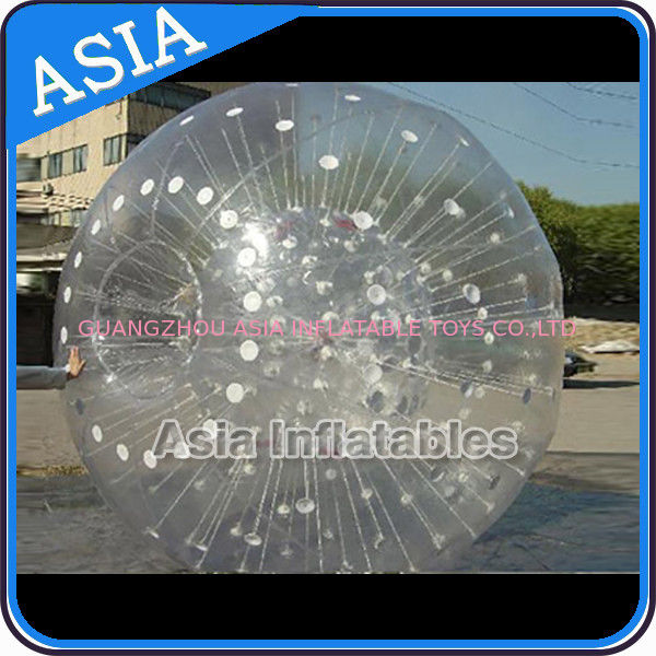 Grass Used One Entrance Zorb Water Ball In 0.8mm Pvc For Rental Business সরবরাহকারী