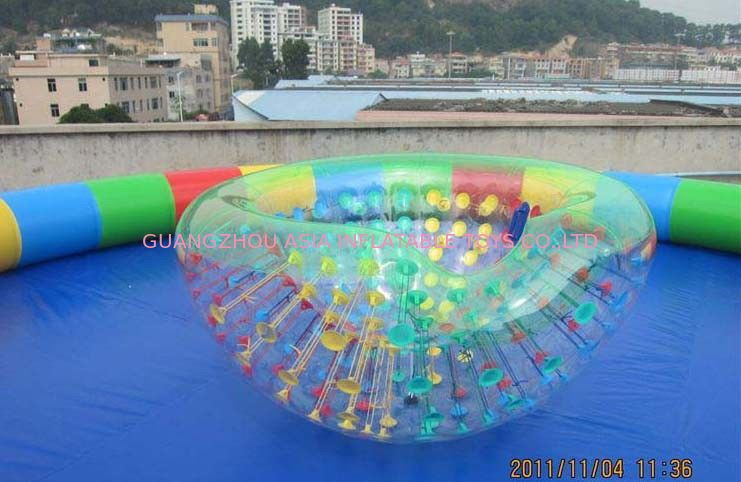 Coco Half Ball / Half Zorb / Floating ball / Inflatable Beach Cocoon for Kids Inflatable Pool সরবরাহকারী