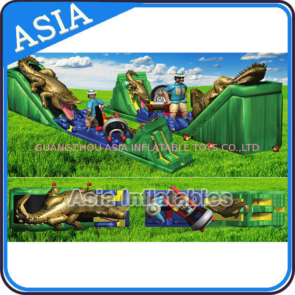 39'L Inflatable Giant High Grade Cartoon Painting Alligator Slide/Inflatable Alligator Slide সরবরাহকারী