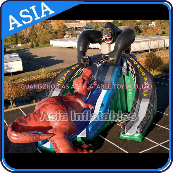 Inflatable Gorilla Kongo Crazy Fight with Dinosaur Giant Slide সরবরাহকারী