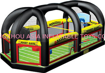 Popular Inflatable All in One Sports Arena Rental , Inflatable football joust games সরবরাহকারী