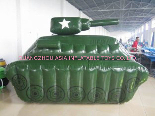 0.6mm / 0.9mm PVC Tarpaulin Fabric Inflatable Paintball Bunker সরবরাহকারী