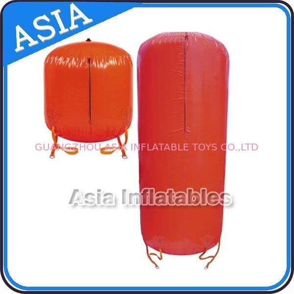 0.6mm PVC Lightweight Inflatable Red Cylinder Buoy Paintball Bunker For Sale সরবরাহকারী